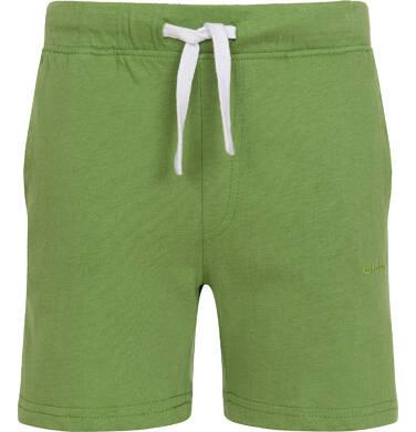 Endo - Krótkie spodenki dla chłopca, z kieszonką z tyłu, zielone, 2-8 lat C05K046_4 114