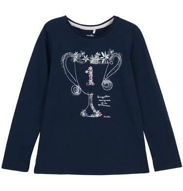 Endo - Bluzka z długim rękawem dla dziewczynki 3-8 lat D62G135_2