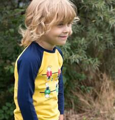 Endo - Koszulka z długim reglanowym rękawem dla chłopca 3-8 lat C72G012_2