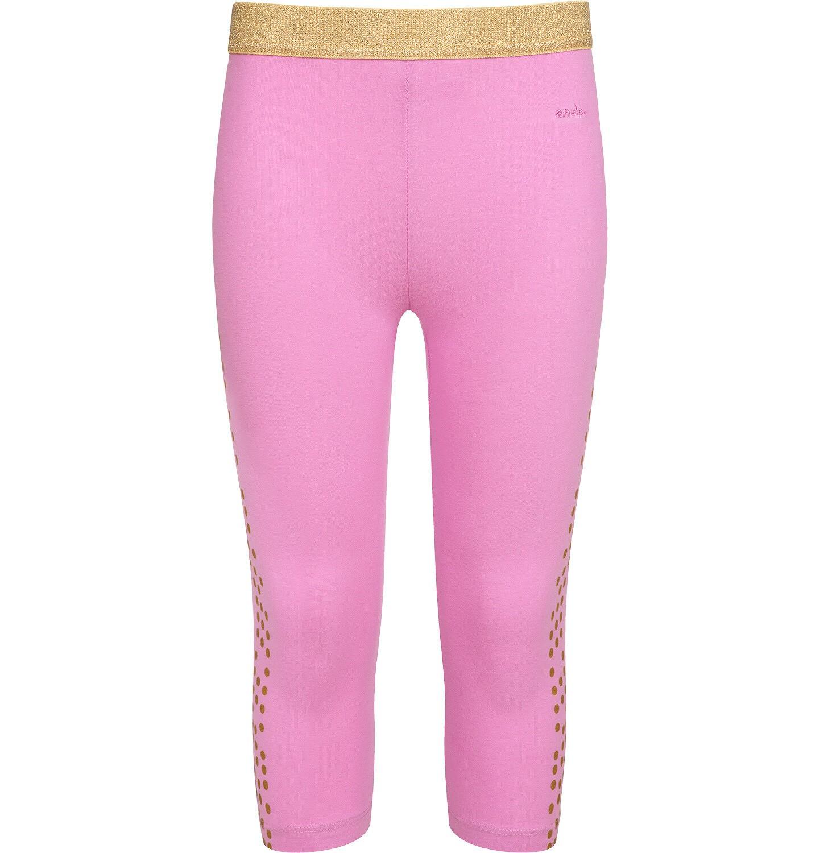 Endo - Legginsy 3/4 dla dziewczynki, z nadrukiem po bokach, różowe, 9-13 lat D05K049_1