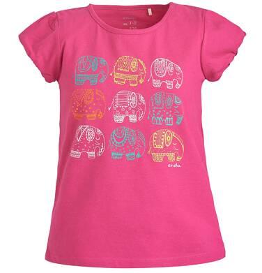 Endo - Bluzka z krótkim rękawem dla dziewczynki 3-8 lat D81G007_1