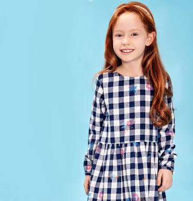 Sukienka flanelowa z długim rękawem dla dziewczynki 3-8 lat D82H017_1