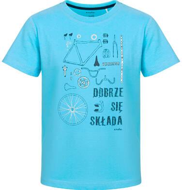 Endo - T-shirt z krótkim rękawem dla chłopca, rowerowe części, niebieski, 9-13 lat C03G584_1