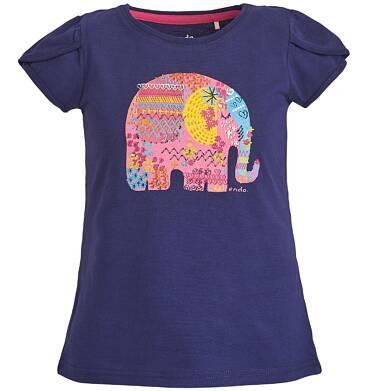 Endo - Bluzka z krótkim rękawem dla dziewczynki 3-8 lat D81G019_2