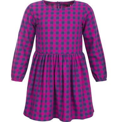 Sukienka flanelowa z długim rękawem dla dziewczynki 3-8 lat D82H018_1