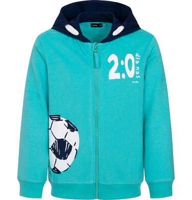 Endo - Rozpinana bluza z kapturem dla chłopca, z piłką, zielona 9-13 lat C05C007_1 94