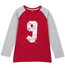 T-shirt z długim rękawem dla chłopca 9-12 lat C62G517_1