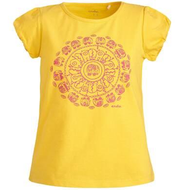 Endo - Bluzka z krótkim rękawem dla dziewczynki 3-8 lat D81G068_1
