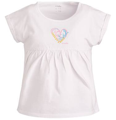 Endo - Bluzka z krótkim rękawem dla dziewczynki 3-8 lat D81G070_1
