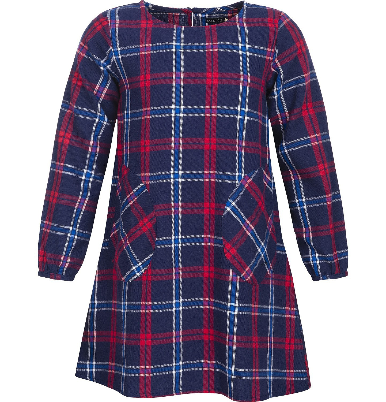 Endo - Sukienka flanelowa z długim rękawem dla dziewczynki 3-8 lat D82H021_1