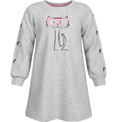 Endo - Sukienka dresowa dla dziewczynki 3-8 lat D82H022_1