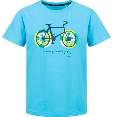 Endo - T-shirt z krótkim rękawem dla chłopca, rowerowe szaleństwo, niebieski, 9-13 lat C03G585_1 28