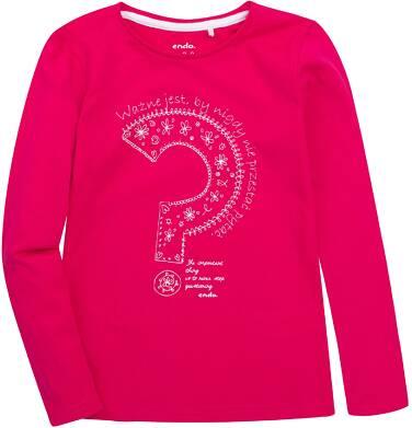 Endo - Bluzka z długim rękawem  dla dziewczynki 3-8 lat D72G121_1