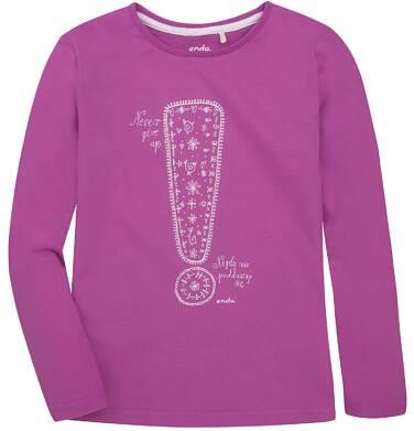 Endo - Bluzka z długim rękawem  dla dziewczynki 3-8 lat D72G128_1