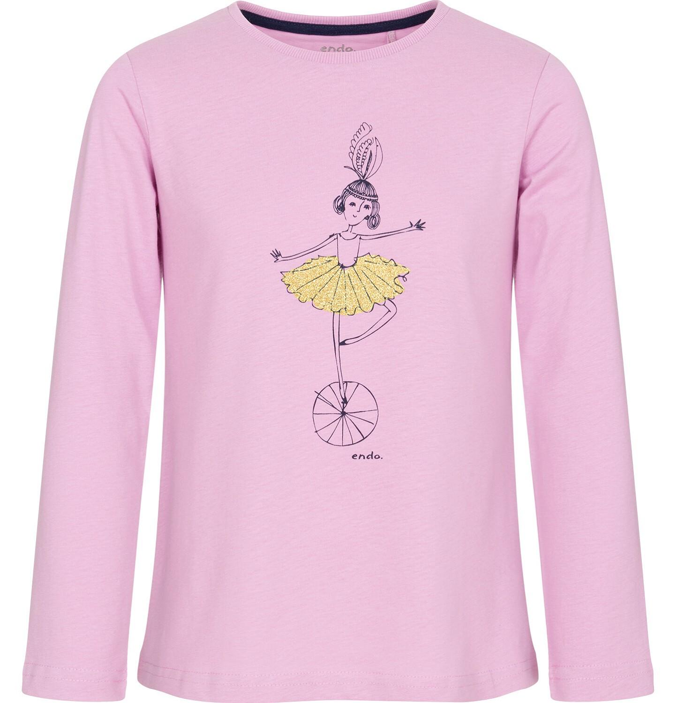 Endo - Bluzka z długim rękawem dla dziewczynki 9-13 lat D92G592_1