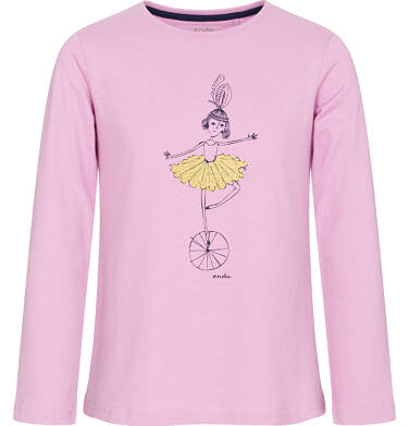 Endo - Bluzka z długim rękawem dla dziewczynki 9-13 lat D92G592_1,1