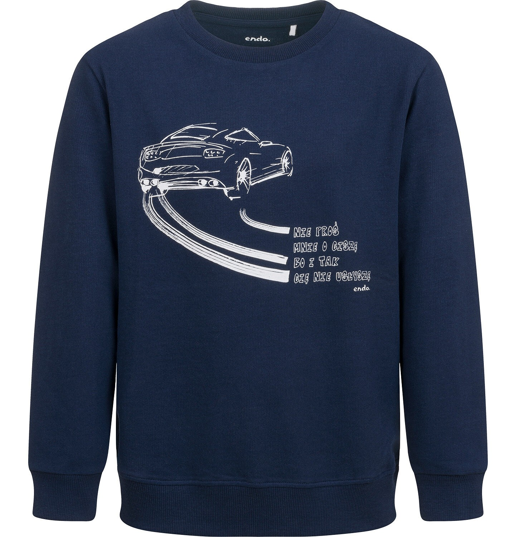 Endo - Bluza dla chłopca, z samochodem, granatowa, 9-13 lat C04C031_1