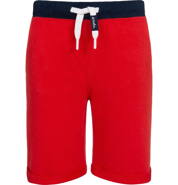 Endo - Krótkie spodenki dresowe dla chłopca, czerwone, 2-8 lat C05K034_4