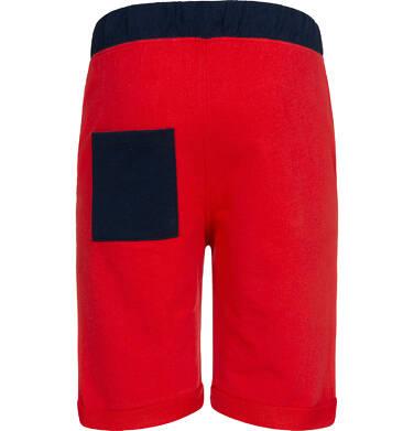 Endo - Krótkie spodenki dresowe dla chłopca, czerwone, 2-8 lat C05K034_4 5