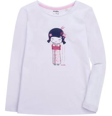 Endo - Bluzka z długim rękawem  dla dziewczynki 3-8 lat D72G050_1
