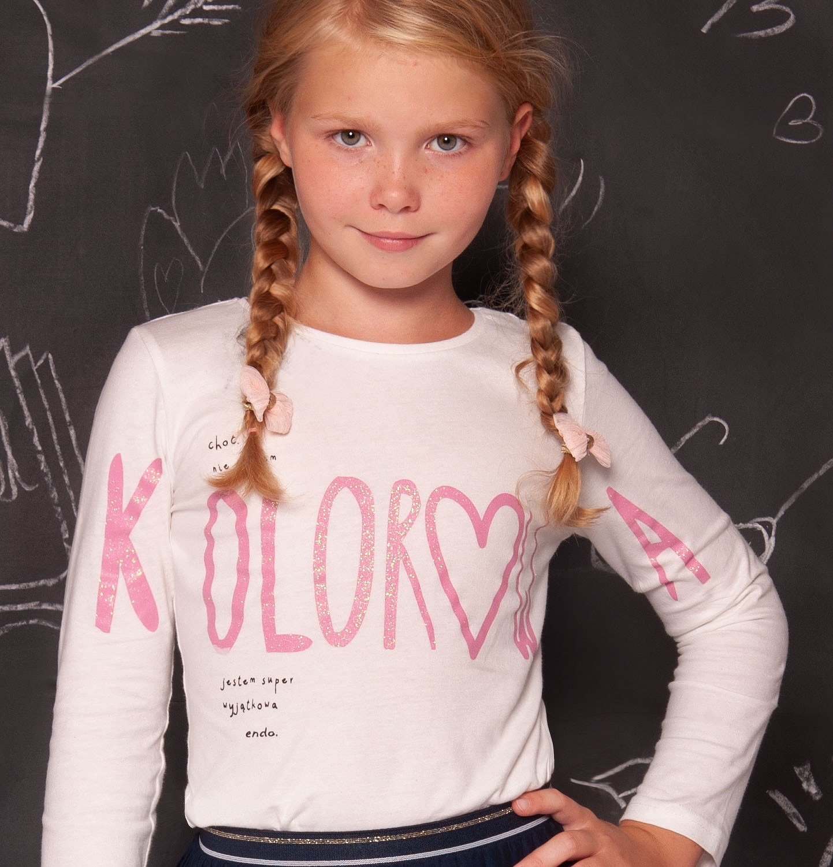 """Endo - """"Choć nie jestem kolorowa jestem super wyjątkowa"""" Bluzka dla dziewczynki 3-8 lat D82G055_2"""