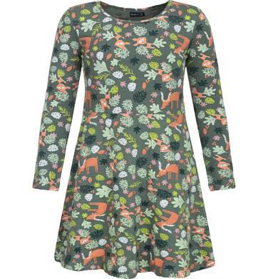 Sukienka z długim rękawem dla dziewczynki 3-8 lat D82H043_1