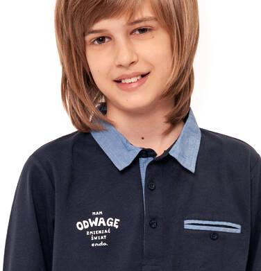 Endo - T-shirt polo z długim rękawem dla chłopca 3-8 lat C92G003_1 19