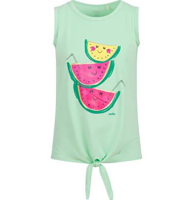 Endo - Bluzka na ramiączkach dla dziewczynki, z owocami, zielona, 2-8 lat D03G640_1 166