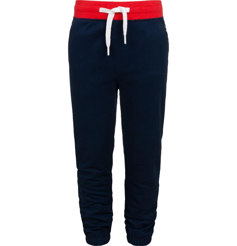Endo - Spodnie dresowe dla chłopca, z czerwonym paskiem, ciemnogranatowe, 9-13 lat C05K014_3
