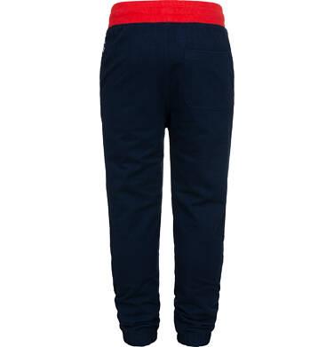 Endo - Spodnie dresowe dla chłopca, z czerwonym paskiem, ciemnogranatowe, 9-13 lat C05K014_3,3