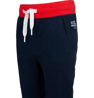 Endo - Spodnie dresowe dla chłopca, z czerwonym paskiem, ciemnogranatowe, 9-13 lat C05K014_3,2