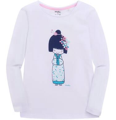 Endo - Bluzka z długim rękawem  dla dziewczynki 3-8 lat D72G051_1