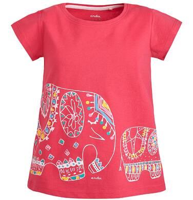 Endo - Bluzka z krótkim rękawem dla dziewczynki 3-8 lat D81G079_1