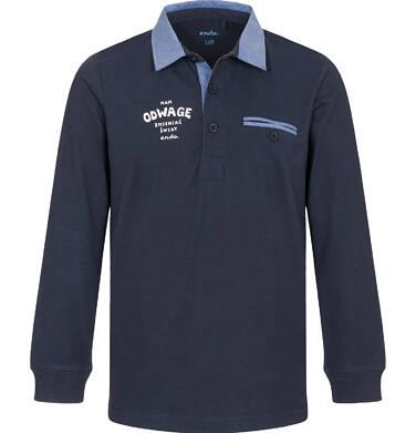 Koszulka polo z długim rękawem dla chłopca 9-13 C92G503_1