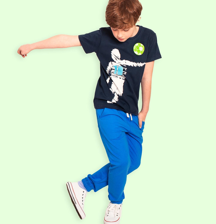 Endo - Spodnie dresowe dla chłopca, niebieskie, 9-13 lat C05K014_4
