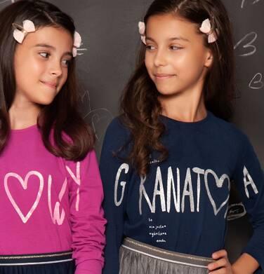 """Endo - """"Choć koszulka granatowa to nie jestem wybuchowa"""" Bluzka dla dziewczynki 3-8 lat D82G055_3"""