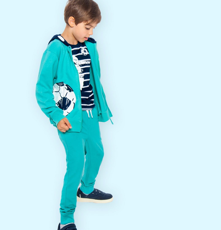 Endo - Spodnie dresowe dla chłopca, zielone, 9-13 lat C05K017_2