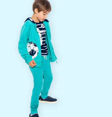 Endo - Spodnie dresowe dla chłopca, zielone, 9-13 lat C05K017_2 5