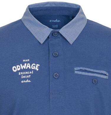 Endo - Koszulka polo z długim rękawem dla chłopca 9-13 C92G503_2