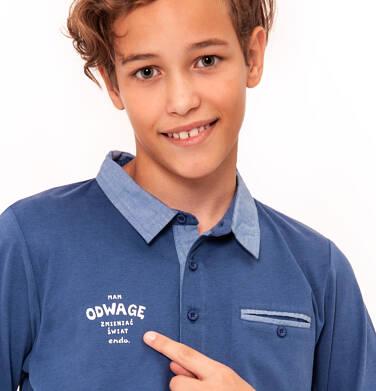 Endo - T-shirt polo z długim rękawem dla chłopca 9-13 lat C92G503_2