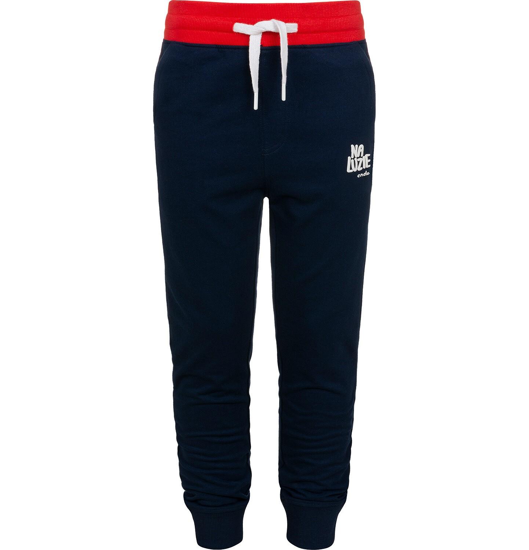 Endo - Spodnie dresowe dla chłopca, ciemnogranatowe, 9-13 lat C05K017_4