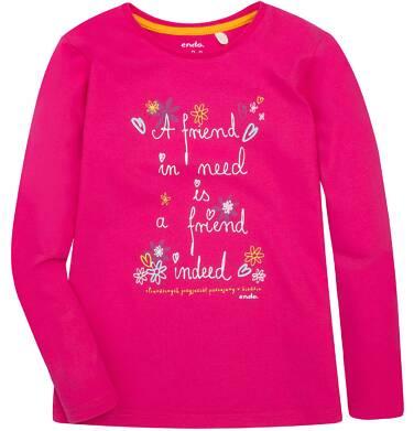 Endo - Bluzka z długim rękawem  dla dziewczynki 3-8 lat D72G124_1