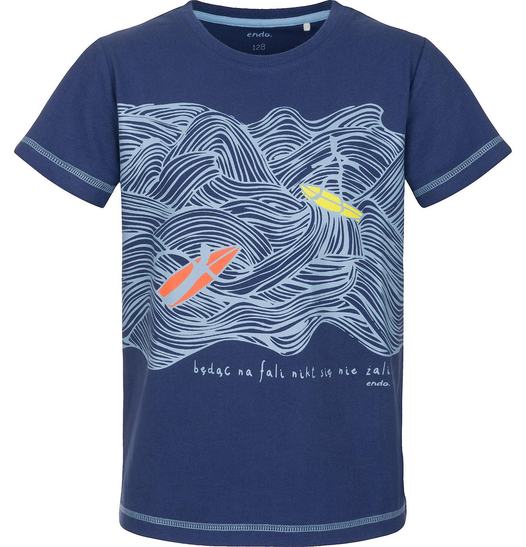 Endo - T-shirt z krótkim rękawem dla chłopca 9-13 lat C91G599_1