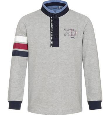 Endo - T-shirt polo z długim rękawem, szary, 3-8 lat C92G006_1 13