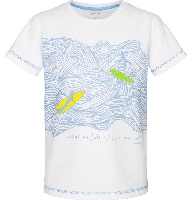 Endo - T-shirt z krótkim rękawem dla chłopca 3-8 lat C91G099_2