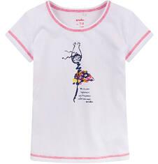 Bluzka z krótkim rękawem dla dziewczynki 9-13 lat D71G598_1