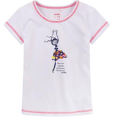 Endo - Bluzka z krótkim rękawem dla dziewczynki 9-13 lat D71G598_1
