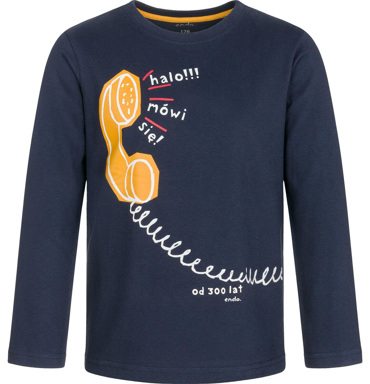 Endo - T-shirt z długim rękawem dla chłopca 9-13 lat C92G620_2