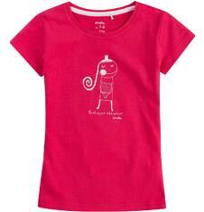 Bluzka z krótkim rękawem dla dziewczynki 9-13 lat D71G520_1