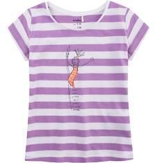 Bluzka z krótkim rękawem dla dziewczynki 9-13 lat D71G589_1